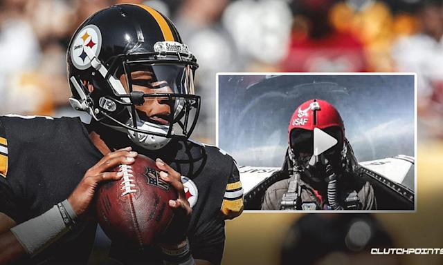 WATCH: Steelers QB Josh Dobbs Takes A Ride In A Fighter Jet
