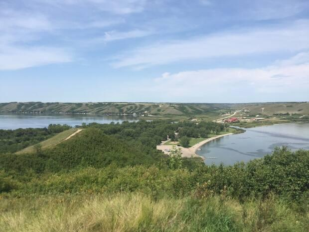 Pasqua Lake on the left and Echo Lake on the right are part of the Lower Qu'Appelle River watershed.  (Adam Hunter/CBC - image credit)
