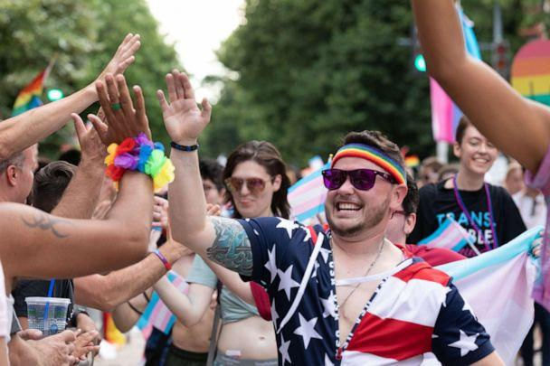 PHOTO: People take part in the LGBT Pride Parade in Washington, June 8, 2019. (NurPhoto via Getty Images, FILE)