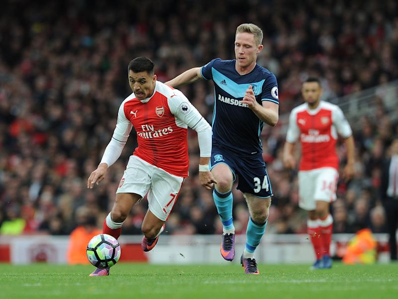Arsenal travel to Middlesbrough on Monday evening: Arsenal FC via Getty