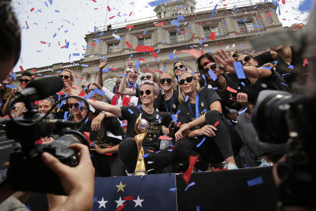 The U.S. women's soccer team is taking home one more award in 2019. (AP Photo/Seth Wenig)