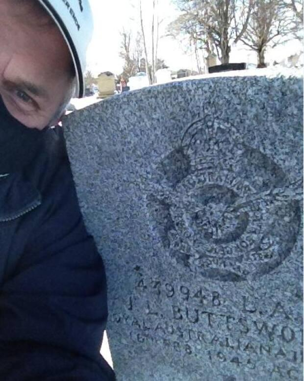 Newson regularly visits the Summerside cemetery due to his other genealogical interests, but says he always feel drawn to this particular grave now 'to at least walk by and say g'day'.