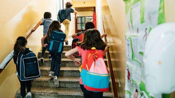 PHOTO: In this undated file photo, students walk up stairs on their way to class. (Getty Images, FILE)