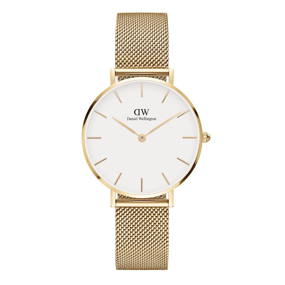 """Daniel Wellington watches have been a cool-girl favorite for years now, and we get it. The pieces are elegant, classic, and look more far expensive than they actually are. $189, Nordstrom. <a href=""""https://www.nordstrom.com/s/daniel-wellington-petite-evergold-mesh-strap-watch-32mm/5691833"""" rel=""""nofollow noopener"""" target=""""_blank"""" data-ylk=""""slk:Get it now!"""" class=""""link rapid-noclick-resp"""">Get it now!</a>"""