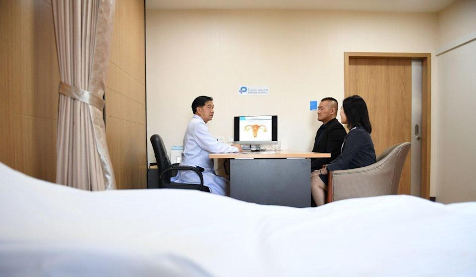 A Chinese couple travelled to Thailand for an in vitro fertilisation consultation in 2018. Photo: AFP