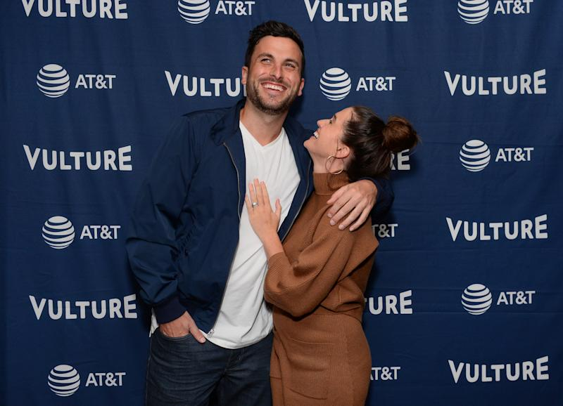 HOLLYWOOD, CALIFORNIA - NOVEMBER 09: (L-R) Tanner Tolbert and Jade Roper Tolbert attends Vulture Festival Presented By AT&T at The Roosevelt Hotel on November 09, 2019 in Hollywood, California. (Photo by Andrew Toth/Getty Images for New York Magazine)