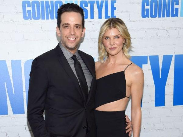Nick Cordero and Amanda Kloots attend the 'Going In Style' premiere on 30 March 2017 in New York City (Dimitrios Kambouris/Getty Images)