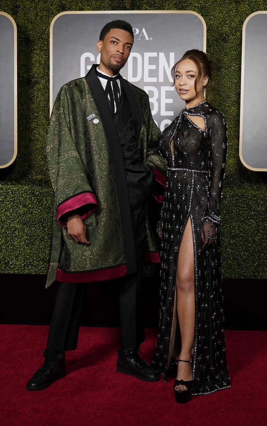 <p>The Golden Globe ambassadors and children of director Spike Lee collaborated with Gucci on their stylishly unique looks, combining their own sense of expression with high fashion and luxuriousness. They looked like the royalty they are. </p>