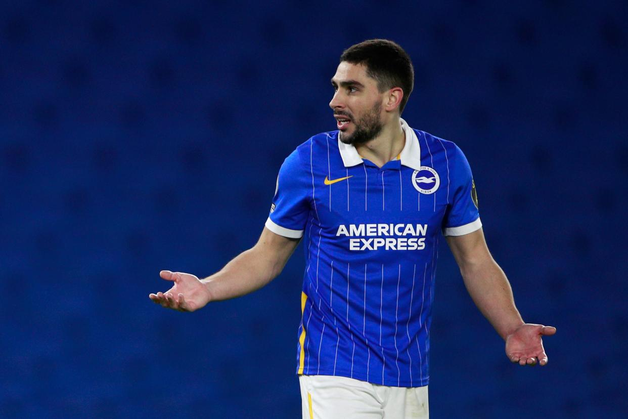 Brighton's French striker Neal Maupay was sent death threats. (Getty Images)