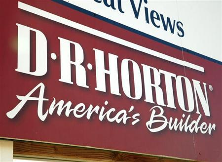 The sign for a development built by D.R. Horton is seen in Arvada