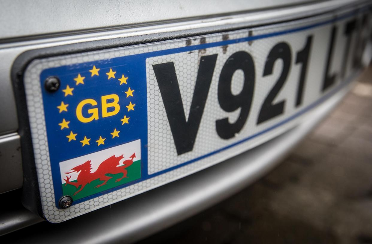 The old Euro symbol GB number plates are no longer valid. (Getty)