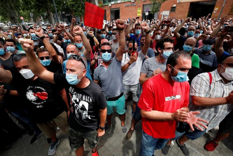 FILE PHOTO: Protest against the closure of the Nissan factory in Barcelona