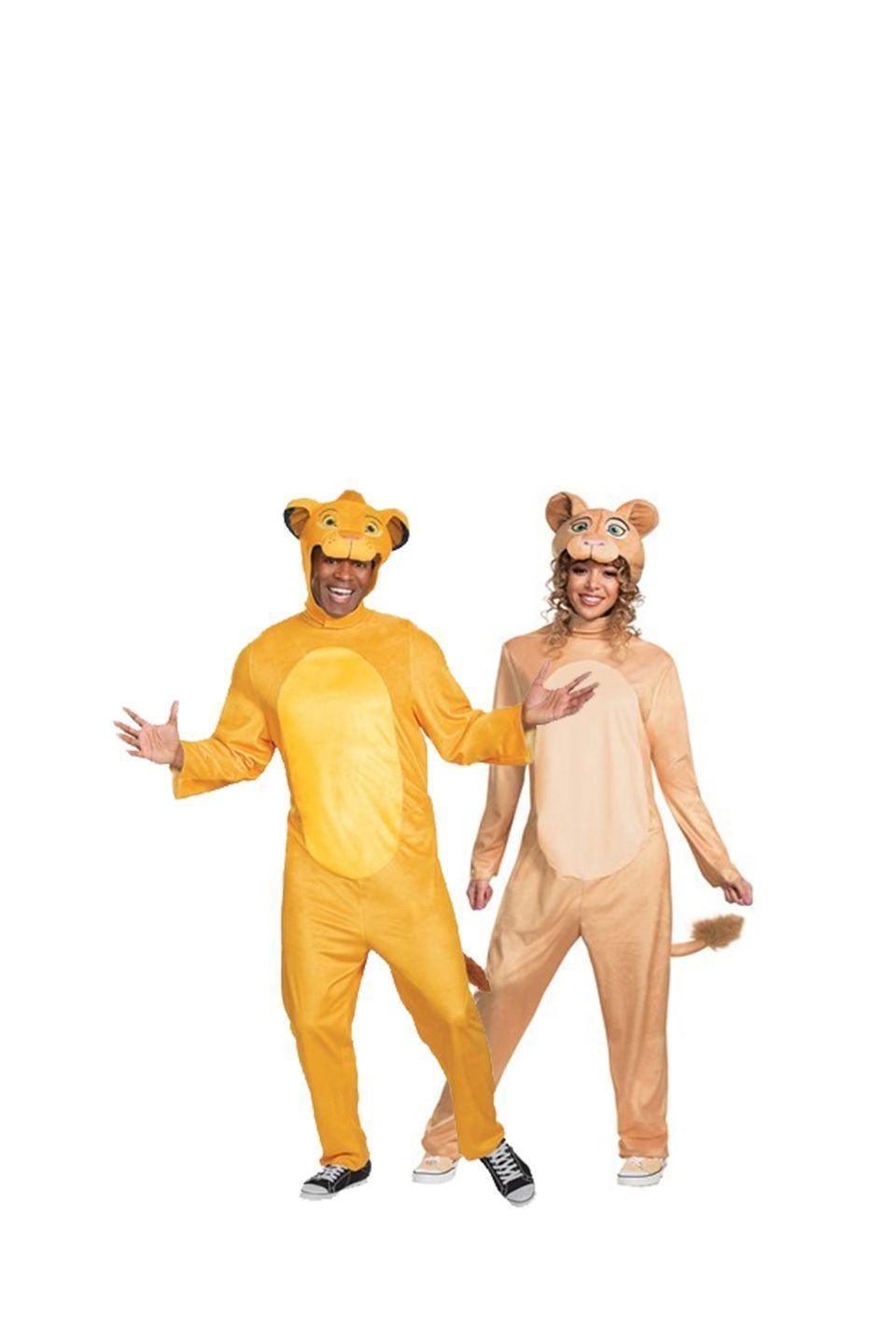 """<p>No matter your age, <em>The Lion King</em> is always a great movie. With this Simba and Nala costume, bring some of the movie's magic to life.</p><p><a class=""""link rapid-noclick-resp"""" href=""""https://go.redirectingat.com?id=74968X1596630&url=https%3A%2F%2Fwww.halloweencostumes.com%2Flion-king-animated-adult-simba-jumpsuit-costume.html&sref=https%3A%2F%2Fwww.womansday.com%2Fstyle%2Fg28691602%2Fdisney-couples-costumes%2F"""" rel=""""nofollow noopener"""" target=""""_blank"""" data-ylk=""""slk:SHOP SIMBA COSTUME"""">SHOP SIMBA COSTUME</a></p><p><a class=""""link rapid-noclick-resp"""" href=""""https://go.redirectingat.com?id=74968X1596630&url=https%3A%2F%2Fwww.halloweencostumes.com%2Flion-king-animated-adult-nala-jumpsuit-costume.html&sref=https%3A%2F%2Fwww.womansday.com%2Fstyle%2Fg28691602%2Fdisney-couples-costumes%2F"""" rel=""""nofollow noopener"""" target=""""_blank"""" data-ylk=""""slk:SHOP NALA COSTUME"""">SHOP NALA COSTUME</a> </p>"""