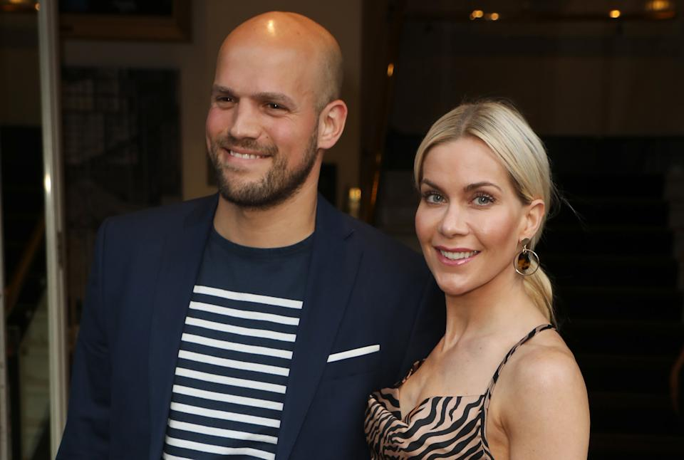 Kate Lawler and fiance Martin. (Getty Images)
