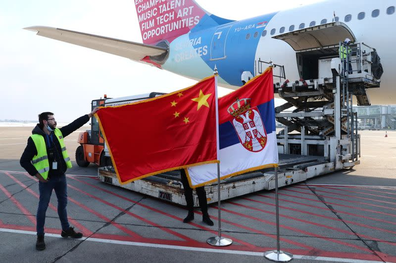 First shipment of China's Sinopharm's vaccines arrive in Belgrade