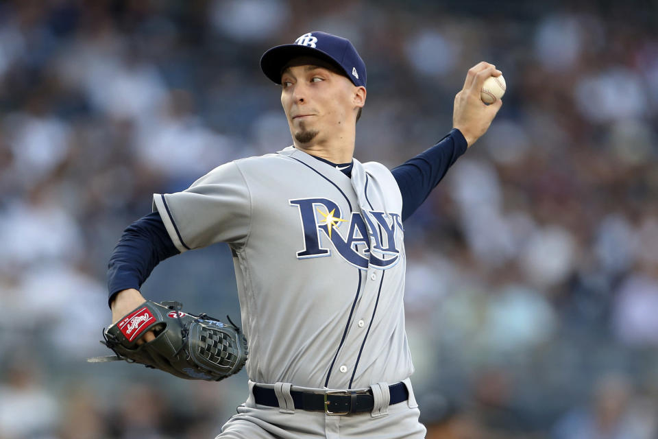 In two-thirds of his 18 starts this season, Blake Snell has allowed zero or one run. (AP)