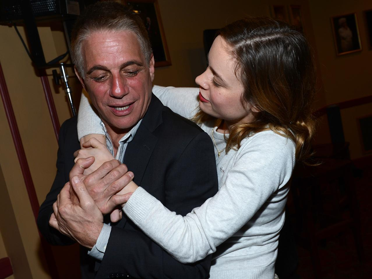 "AUSTIN, TX - MARCH 11:  Actor Tony Danza (L) and actress Brie Larson attend the Green Room Photo Op for ""Don Jon's Addiction"" during the 2013 SXSW Music, Film + Interactive Festival at the Paramount Theatre on March 11, 2013 in Austin, Texas.  (Photo by Michael Buckner/Getty Images for SXSW)"