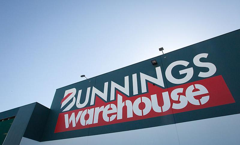 The logo of Wesfarmers Ltd.'s Bunnings Warehouse is displayed at a store in Sydney, Australia, on Thursday, July 28, 2011.