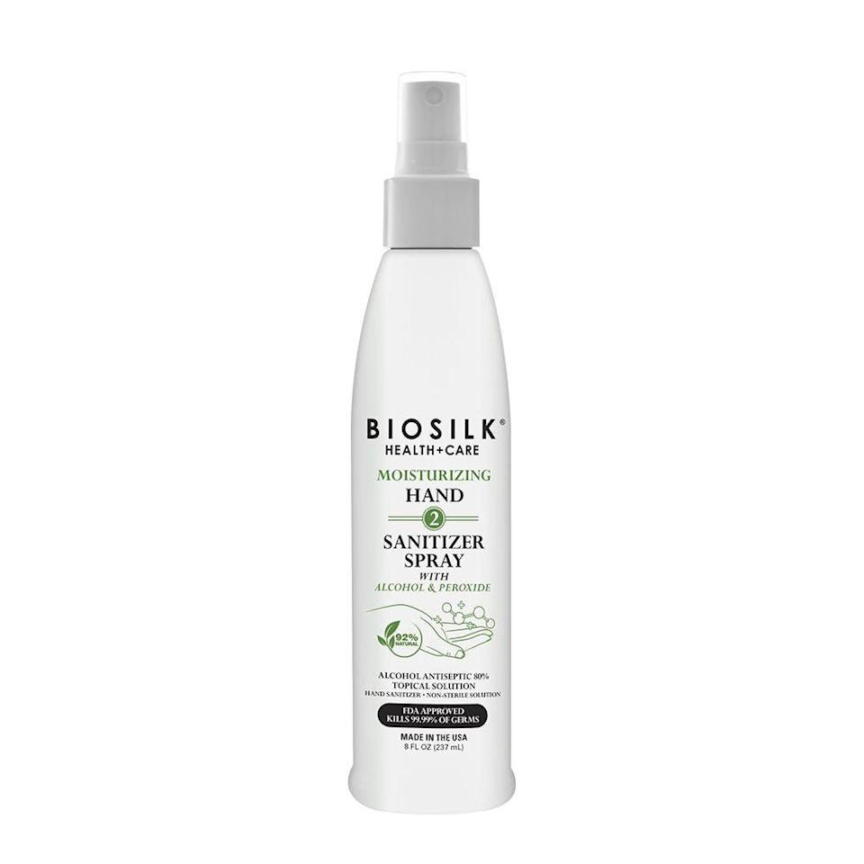 """<p><strong>BioSilk</strong></p><p>walmart.com</p><p><strong>$12.99</strong></p><p><a href=""""https://go.redirectingat.com?id=74968X1596630&url=https%3A%2F%2Fwww.walmart.com%2Fip%2F845791489&sref=https%3A%2F%2Fwww.menshealth.com%2Fhealth%2Fg33415441%2Fbest-hand-sanitizers%2F"""" rel=""""nofollow noopener"""" target=""""_blank"""" data-ylk=""""slk:BUY IT HERE"""" class=""""link rapid-noclick-resp"""">BUY IT HERE</a></p><p>Haircare company Biosilk has turned to making hand sanitizer. Combat germs with their moisturizing formula that contains 80 percent alcohol. </p>"""