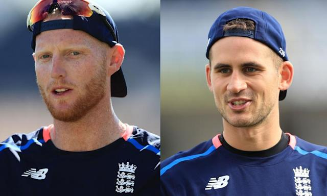 """<span class=""""element-image__caption"""">Ben Stokes and Alex Hales are having their central contracts renewed by the ECB.</span> <span class=""""element-image__credit"""">Photograph: PA Wire/PA</span>"""