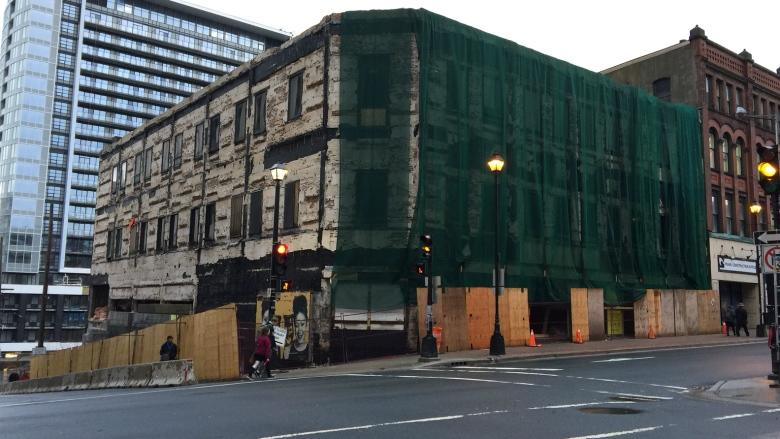 Downtown road closures extended as work continues for new 16-storey building