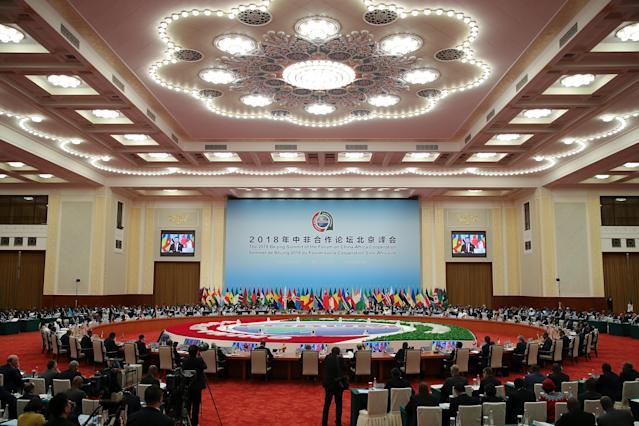 <p>Chinese President Xi Jinping speaks during the 2018 Beijing Summit Of The Forum On China-Africa Cooperation – Round Table Conference at at the Great Hall of the People in Beijing on September 4, 2018 in Beijing, China. (Photo by Lintao Zhang/Getty Images) </p>