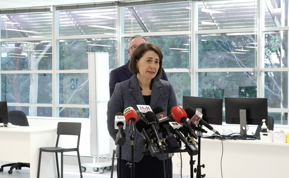 NSW Premier Gladys Berejiklian said she does not believe students should carry knives at school. Source: NSW Health