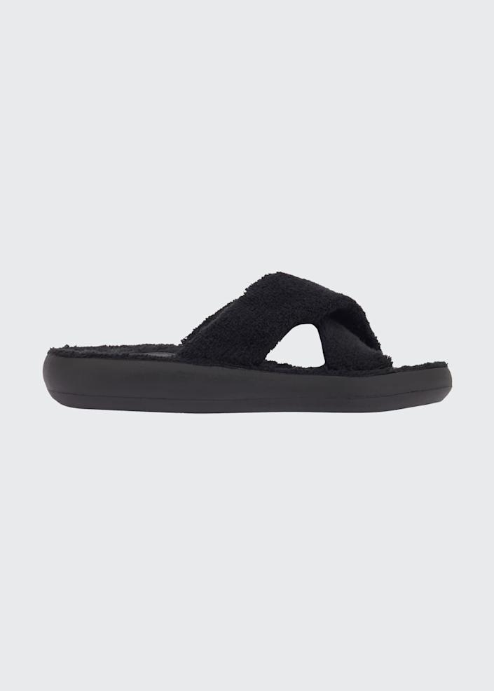 <p>Fact: You can't go wrong with terry cloth in warm weather - or these <span>Ancient Greek Sandals Thais Cozy Crisscross Slide Sandals</span> ($230).</p>