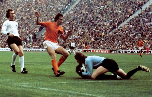 Johann Cruyff was Holland captain as they reached the 1974 World Cup final (PA)