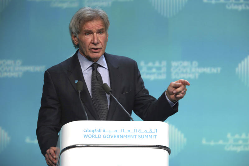 Harrison Ford knocks Trump during climate change speech