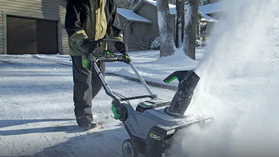 The Ego Power+56-volt snow blower is a compact snow blower that doesn't require gas or a cord to stay powered up.