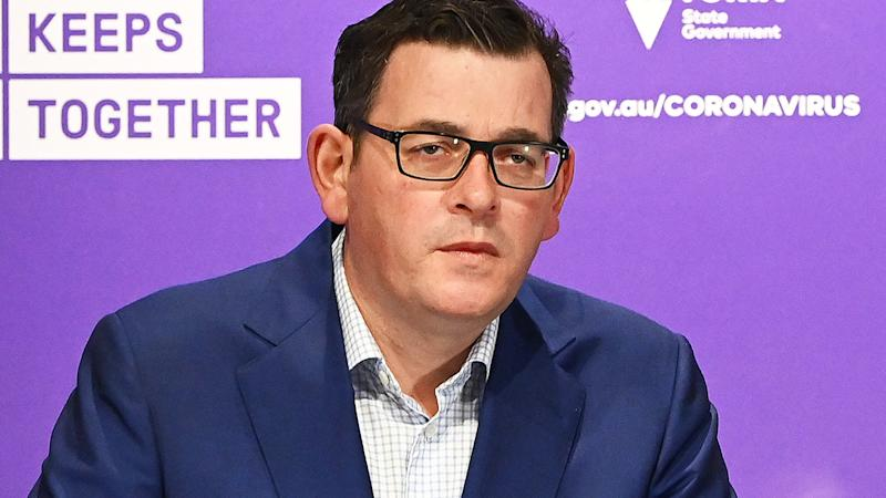 Daniel Andrews, pictured here speaking to the media in Melbourne.