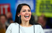 Elevated to the post of Home Secretary by Boris Johnson in 2019, Priti Patel became the first ethnic minority person to hold the position. (Getty)