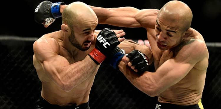 Marlon Moraes rocks Jose Aldo at UFC 245