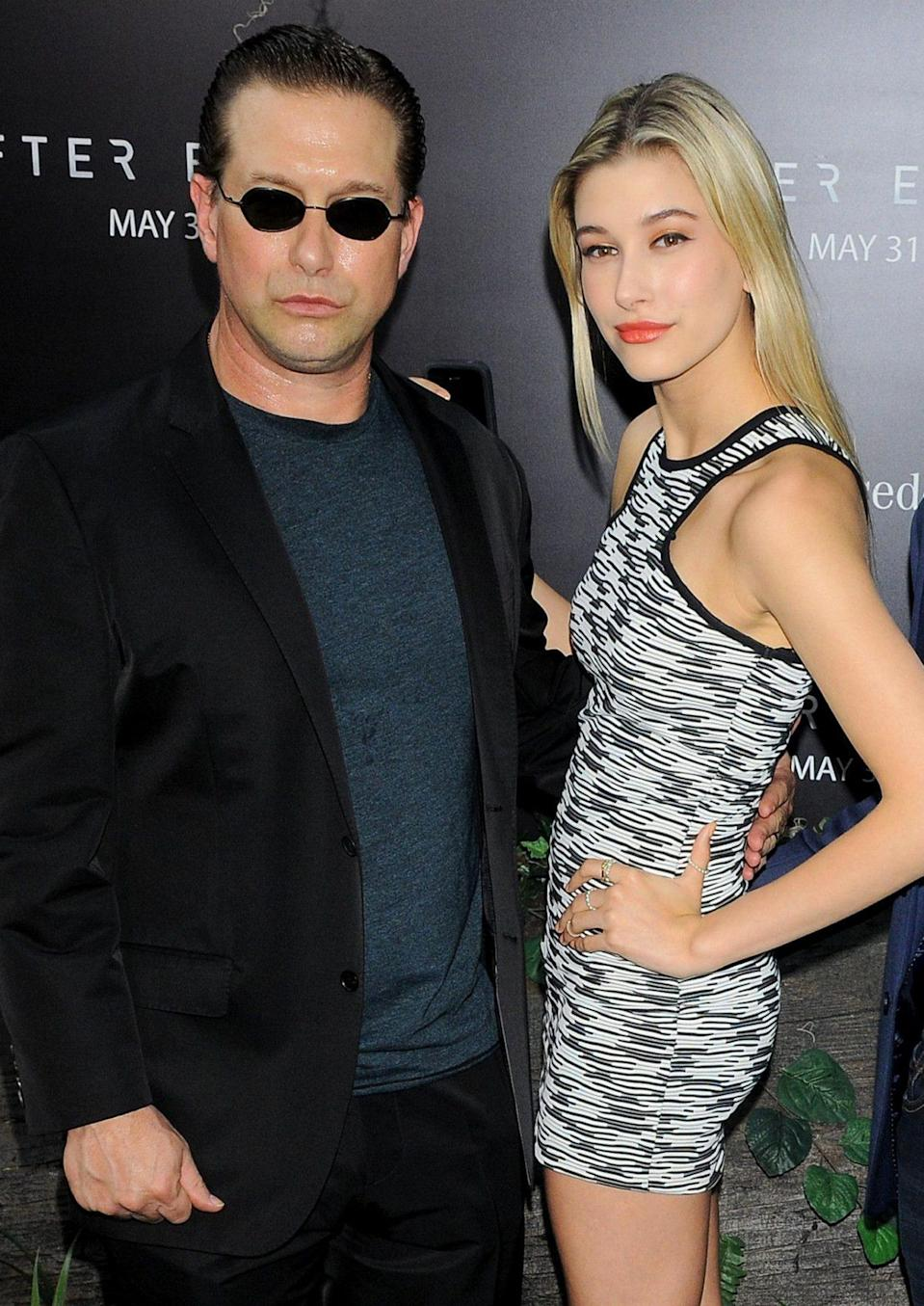 <p>Some of the model's first red carpet moments were alongside her actor father.</p>