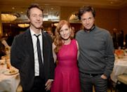 Edward Norton, Jessica Chastain, and director Bennett Miller attend the 15th Annual AFI Awards Luncheon.