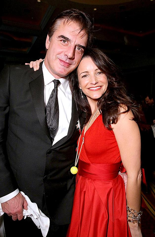 """Sex and The City"" costars Chris Noth and Kristen Davis reunited at the 11th Annual Costume Designers Guild Awards in Beverly Hills last Tuesday. Work on the movie's sequel is underway, and part of the plot will reportedly address how its fashionable characters are dealing with the economic recession. Alexandra Wyman/<a href=""http://www.wireimage.com"" target=""new"">WireImage.com</a> - February 17, 2009"