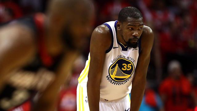 Kevin Durant has dropped over 35 points in both Western Conference Final games for the Golden State Warriors. Has the rest of the team become too reliant on KD and lost its aggressive edge?
