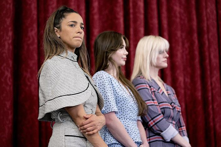U.S. Olympic gymnast Aly Raisman testifies during the Senate Judiciary Committee hearing titled Dereliction of Duty: Examining the Inspector Generals Report on the FBIs Handling of the Larry Nassar Investigation, in Hart Building on Wednesday, September 15, 2021.