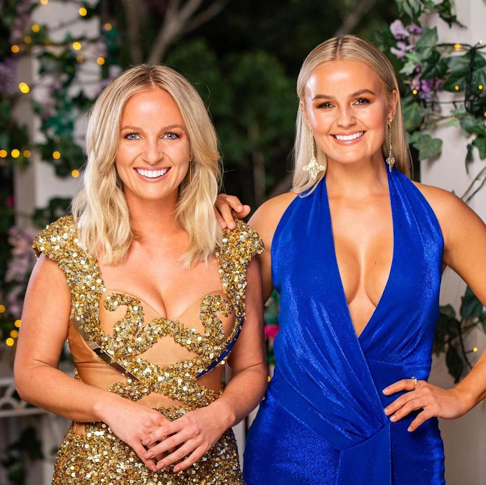 Becky and Elly Miles have shared their anger over Pete's decision to break up with Becky just days after they filmed the finale. Photo: Ten