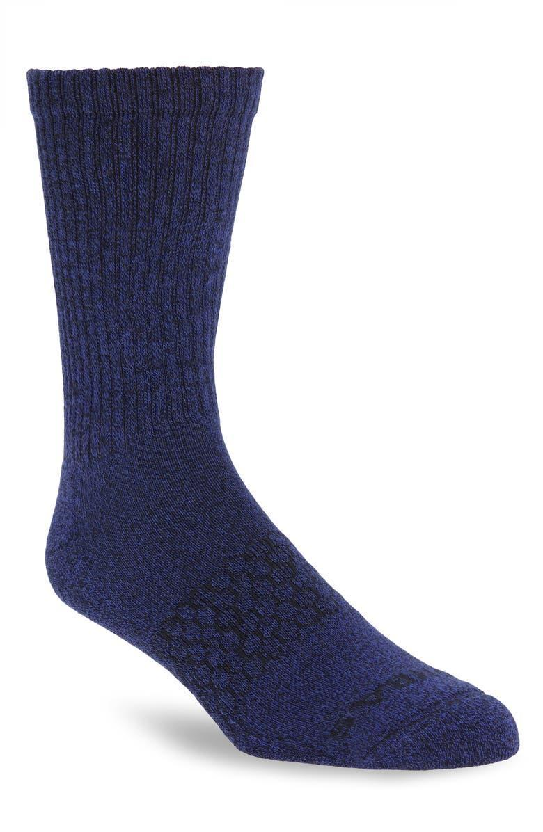 """<h2>Bombas Marl Crew Sock</h2><br><strong>Under $20<br></strong>Let's talk about socks, baby — they're a long-running dad-gifting go-to that will never break the band and always go to good use. Your dad will appreciate a pair of top-rated Bombas foot-huggers — not only did the <a href=""""https://bombas.com/pages/6-reasons-why"""" rel=""""nofollow noopener"""" target=""""_blank"""" data-ylk=""""slk:brand spend two years in development"""" class=""""link rapid-noclick-resp"""">brand spend two years in development</a> to ensure maximum comfort and arch support for their premium product, but Bombas will also <a href=""""https://bombas.com/pages/giving-back"""" rel=""""nofollow noopener"""" target=""""_blank"""" data-ylk=""""slk:donate a pair of socks"""" class=""""link rapid-noclick-resp"""">donate a pair of socks</a> for every pair purchased.<br><br><em>Shop Bombas at <strong><a href=""""https://www.nordstrom.com/brands/bombas--18457"""" rel=""""nofollow noopener"""" target=""""_blank"""" data-ylk=""""slk:Nordstrom"""" class=""""link rapid-noclick-resp"""">Nordstrom</a></strong></em><br><br><strong>Bombas</strong> Marl Crew Socks, $, available at <a href=""""https://go.skimresources.com/?id=30283X879131&url=https%3A%2F%2Fwww.nordstrom.com%2Fs%2Fbombas-marl-crew-socks%2F5842690%3F%26color%3D404"""" rel=""""nofollow noopener"""" target=""""_blank"""" data-ylk=""""slk:Nordstrom"""" class=""""link rapid-noclick-resp"""">Nordstrom</a>"""