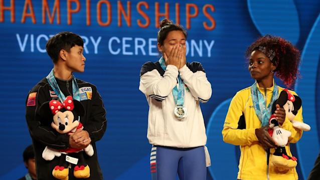 <p>Mirabai Chanu became the first Indian in over 20 years to win a gold medal at World Weightlifting Championships. </p>