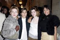 <p>Scarlett's 2003 Fashion Week crew was a who's who of L.A. It girls - Summer Phoenix, Heather Matarazzo and Rosario Dawson - and her outfit was also peak 2003. </p>