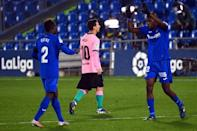 Getafe inflicted a 1-0 defeat on Lionel Messi and Barcelona