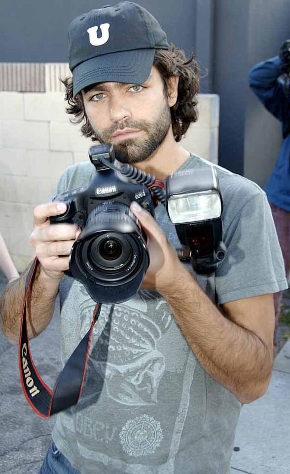 """Recognize this bearded photographer? It's Adrian Grenier. The """"Entourage"""" star played paparazzo for a day on Thursday as part of a documentary he's working on. London Entertainment/<a href=""""http://www.splashnewsonline.com"""" target=""""new"""">Splash News</a> - March 5, 2008"""