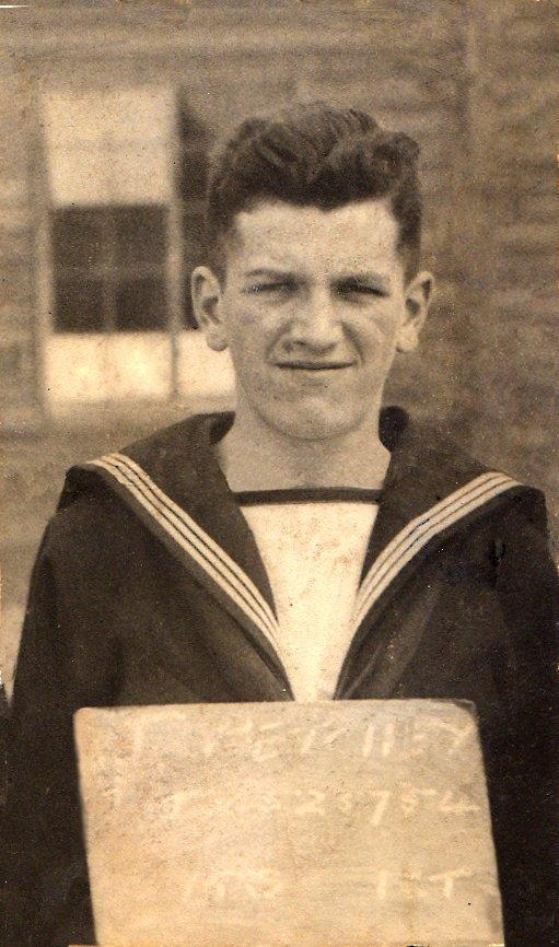 Jack Petchey as a young naval cadet