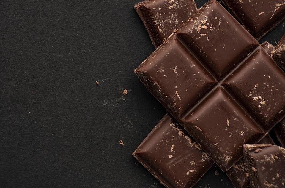 """<p>Chocolate seems like the ultimate treat because it is...and when you buy the right kind, it's also downright good for you. """"Dark chocolate, with greater than 70 percent cacao, contains probiotics, which help lower cholesterol,"""" says Rose. """"Dark chocolate, rich in polyphenols, has antioxidant and inflammatory properties which disarm unhealthy free-radicals that cause disease."""" Eat that bar of chocolate! </p>"""