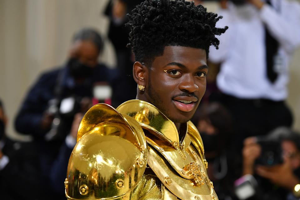 NEW YORK, NEW YORK - SEPTEMBER 13: Lil Nas X attends The 2021 Met Gala Celebrating In America: A Lexicon Of Fashion at Metropolitan Museum of Art on September 13, 2021 in New York City