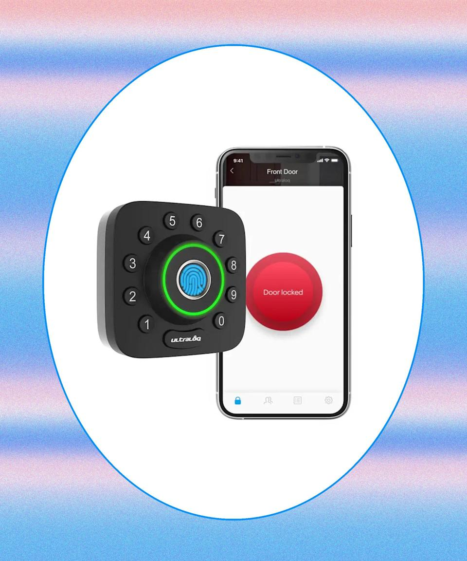 """<h2>Ultraloq Deadbolt 1-Cylinder Biometric Electronic Lock </h2>If you'd rather not dole out spare keys to your pet sitters, housekeepers, family members, and the like, a smart lock grants access to your home with just the touch of a few buttons. Through the app, you can change your code at any time and monitor who is coming in and out of your doors. <br><br><strong>Ultraloq</strong> Ultraloq Deadbolt 1-Cylinder Biometric Electronic Lock, $, available at <a href=""""https://go.skimresources.com/?id=30283X879131&url=https%3A%2F%2Fwww.lowes.com%2Fpd%2FUltraloq-Ultraloq-U-Bolt-Pro-Bluetooth-Enabled-Fingerprint-and-Touchscreen-Smart-Deadbolt%2F1002676054"""" rel=""""nofollow noopener"""" target=""""_blank"""" data-ylk=""""slk:Lowe's"""" class=""""link rapid-noclick-resp"""">Lowe's</a>"""