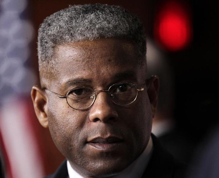FILE - In this July 30, 2011, file photo, Rep. Allen West, R-Fla. speaks on Capitol Hill in Washington. West and two other high-profile House conservatives are facing opponents who insist that their views are too extreme, have trickier paths to re-election next month. GOP House candidate, West of Florida, Steve King of Iowa and Joe Walsh of Illinois are all embroiled in tough and expensive races that are drawing plenty of spending by friends and foes from around the country. (AP Photo/J. Scott Applewhite, File)